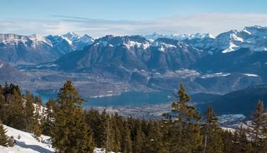 L'hiver dans les montagnes d'Annecy